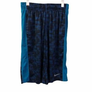 Nike Youth Dri-Fit Activewear Shorts Blue L